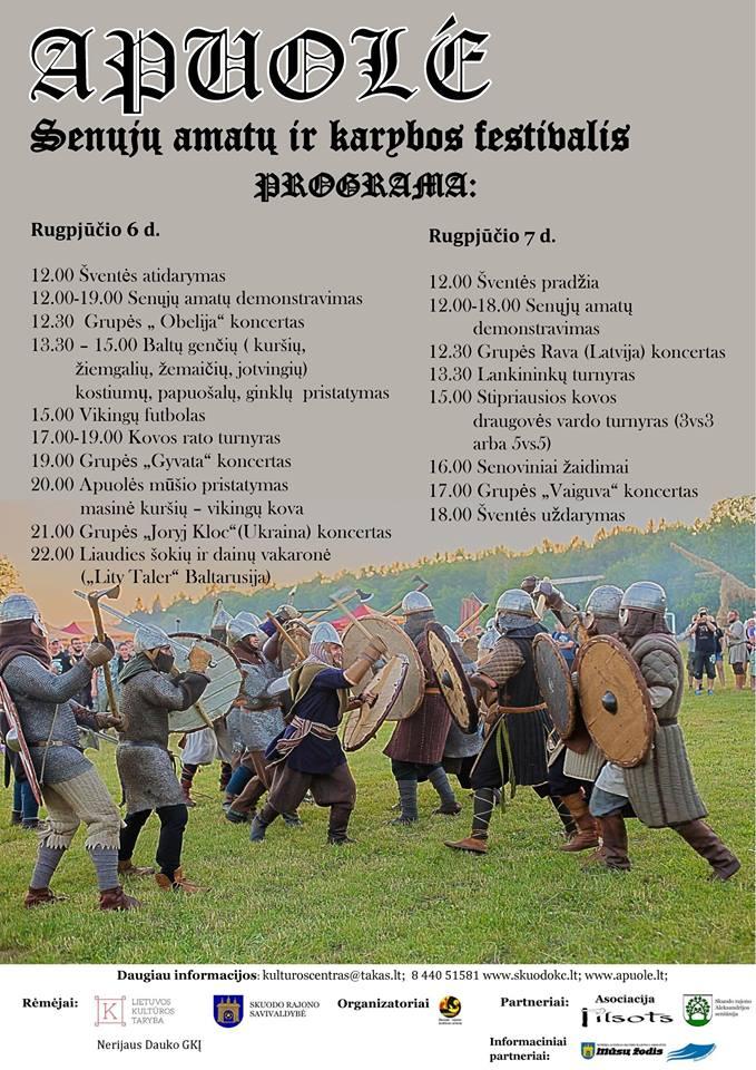 """Senųjų amatų ir karybos festivalis """"Apuolė"""""""