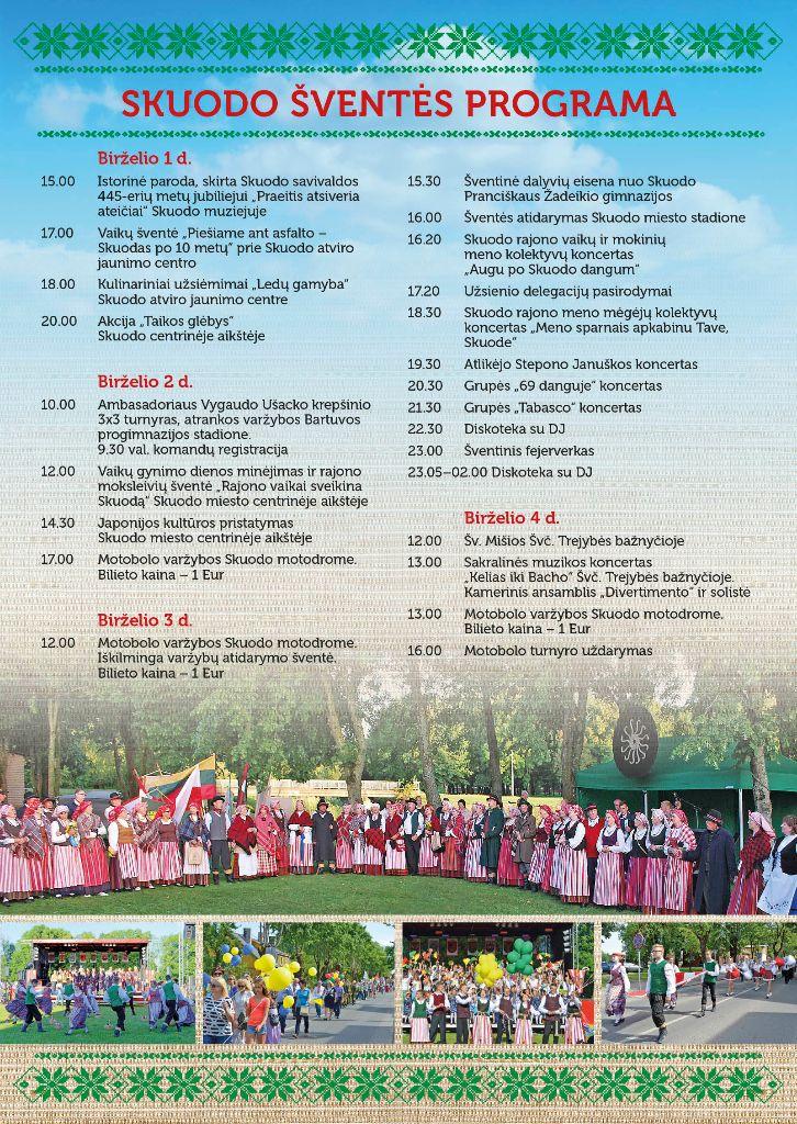 Skuodo miesto šventės programa