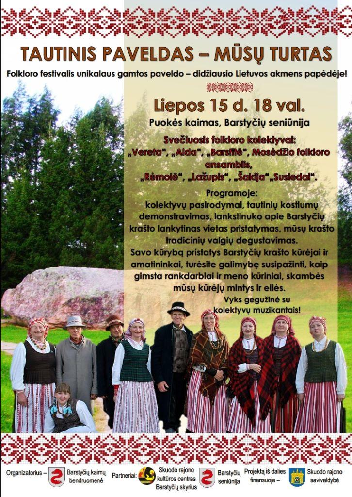 Folkloro festivalis prie Barstyčių akmens