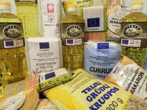Maisto produktai iš Europos pagalbos labiausiai skurstantiems
