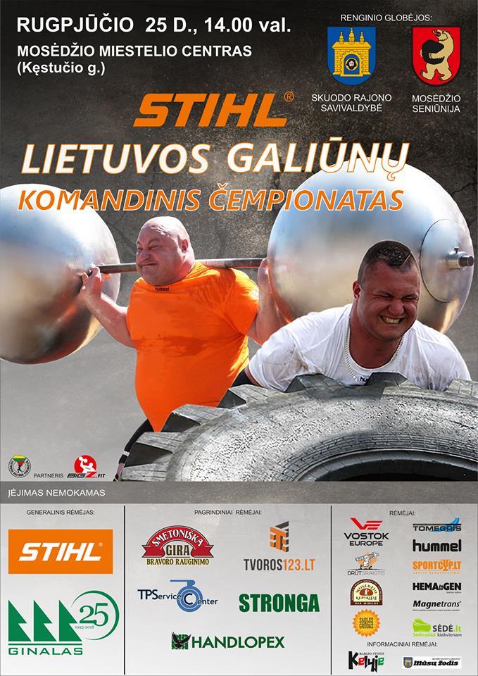Lietuvos galiūnų komandinis čempionatas Mosėdyje