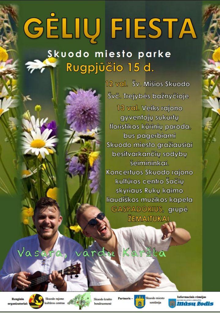 Gėlių fiesta Skuodo miesto parke