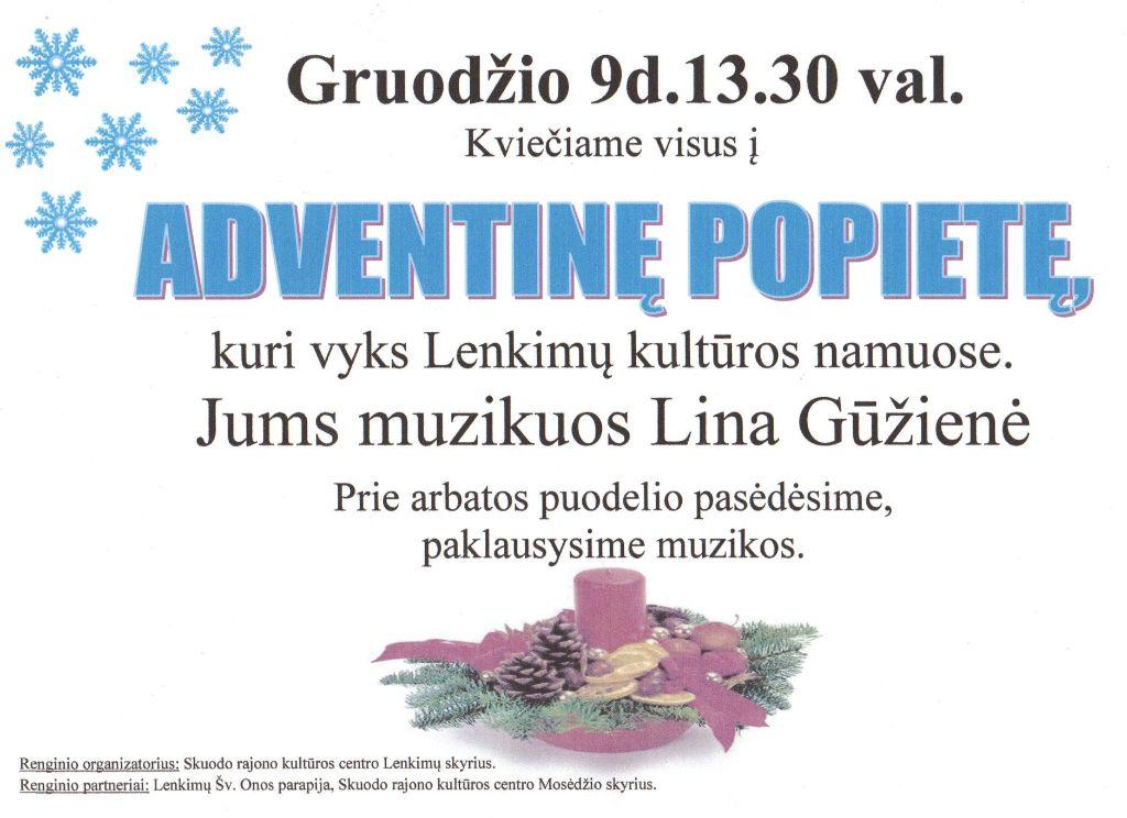 Adventinė popietė Lenkimuose