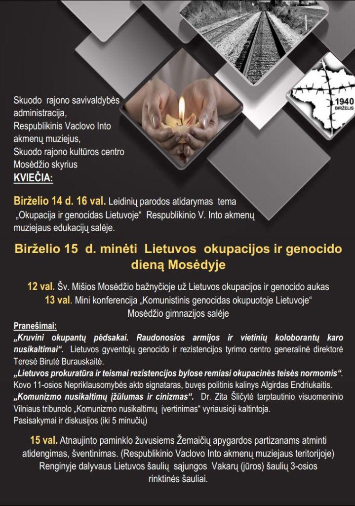 Lietuvos okupacijos ir genocido diena Mosėdyje
