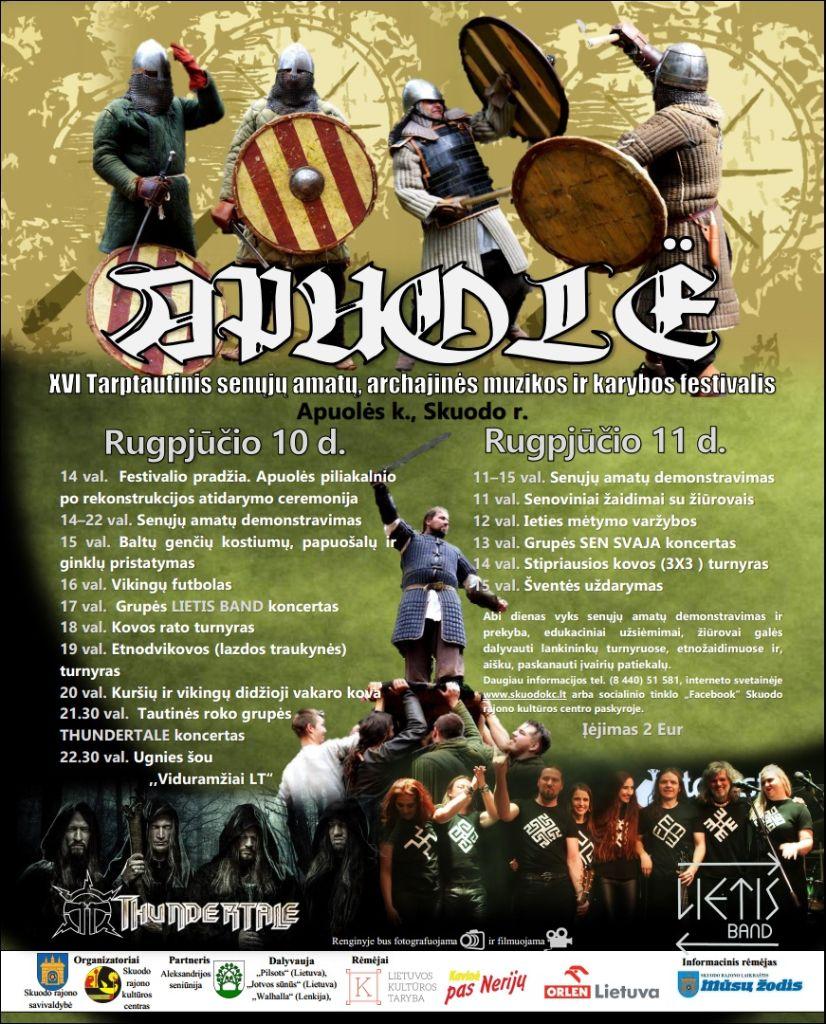 """Tarptautinis senųjų amatų, archajinės muzikos ir karybos festivalis """"Apuolė"""""""