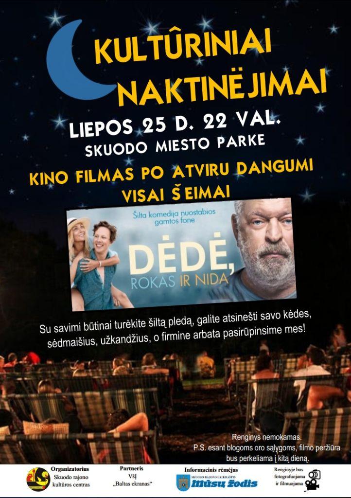 Kultūriniai naktinėjimai - kino filmas po atviru dangumi