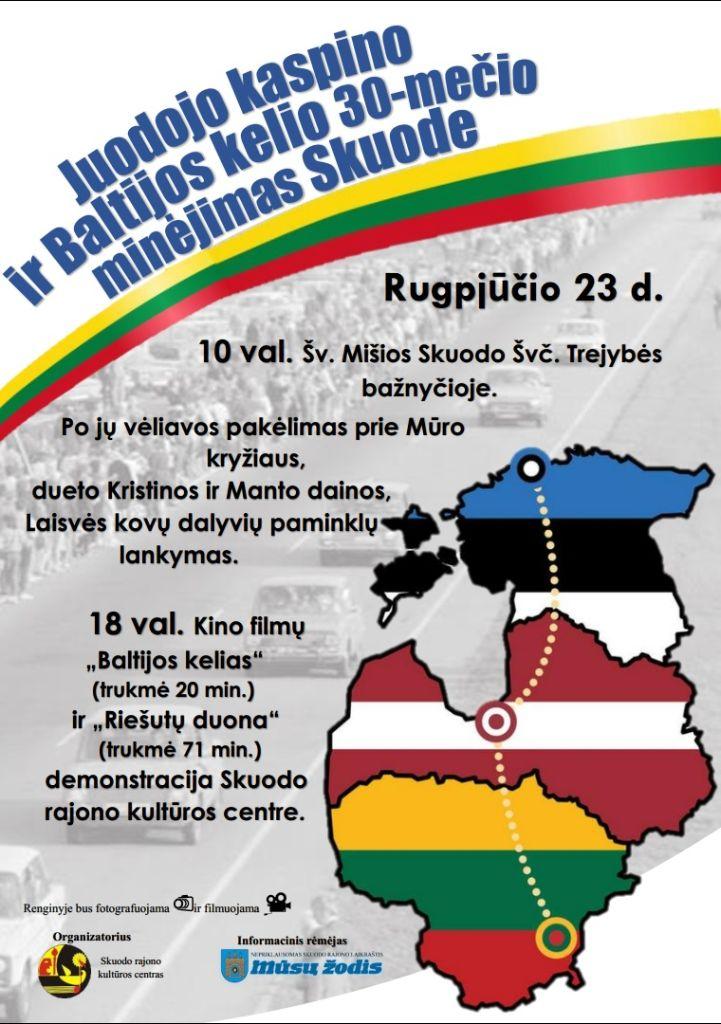 Juodojo kaspino ir Baltijos kelio 30-mečio minėjimas Skuode
