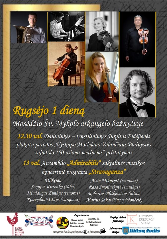 Parodos atidarymas ir koncertas Mosėdyje