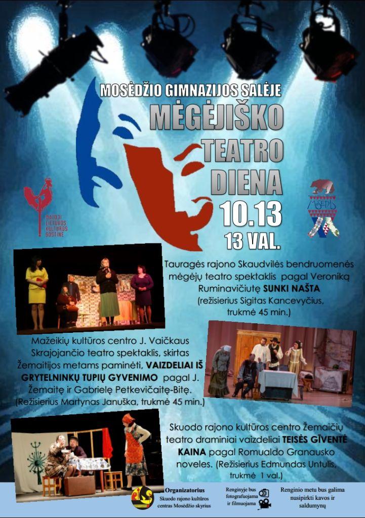Mėgėjiško teatro diena Mosėdyje