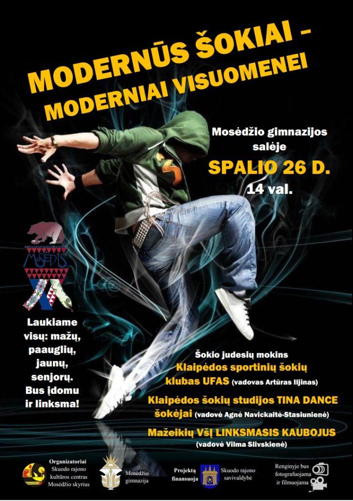 Modernaus šokio šventė Mosėdyje