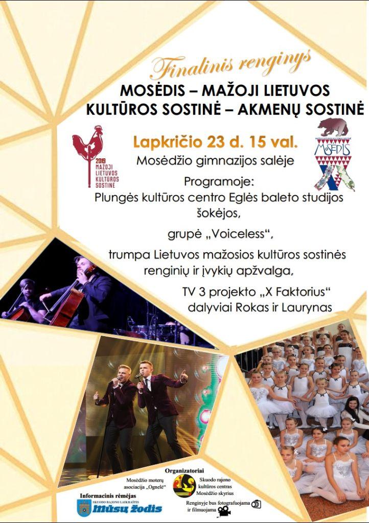 Mosėdžio – mažosios Lietuvos kultūros sostinės uždarymo šventė