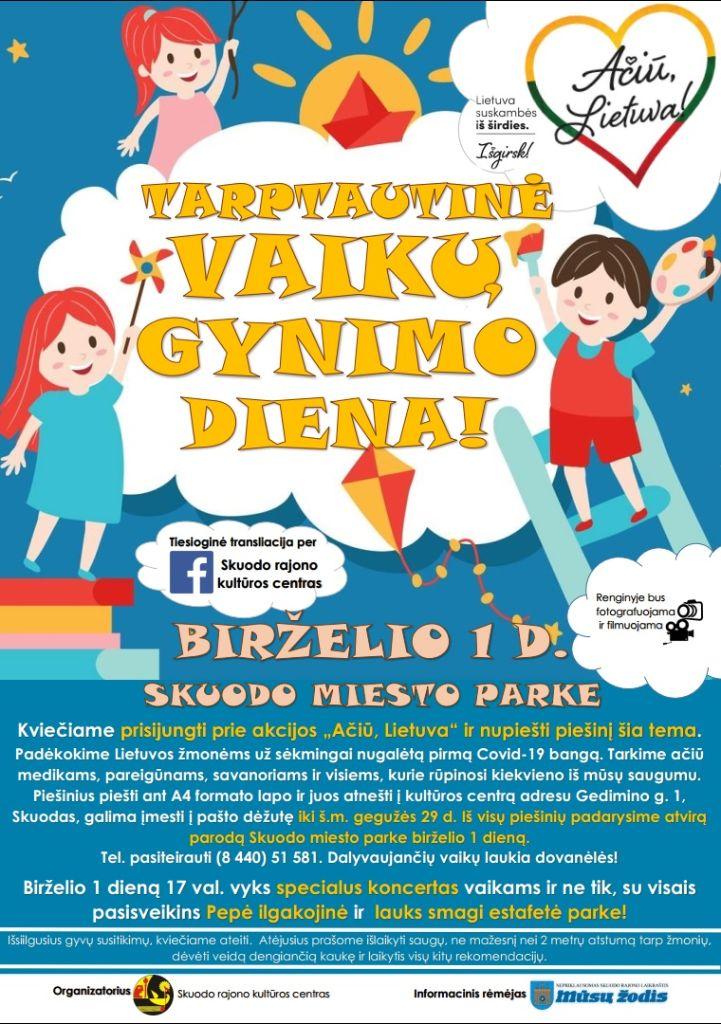 Tarptautinė vaikų gynimo diena Skuode