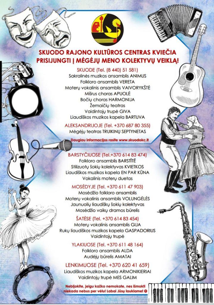 Skuodo rajono kultūros centras kviečia prisijungti į mėgėjų meno kolektyvų veiklą