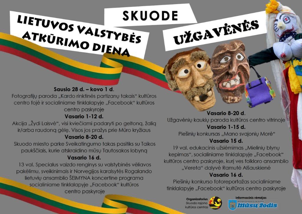Lietuvos atkūrimo dienos ir Užgavėnių šventės Skuode